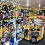 More golf equipment in the golf shop at Walmersley Golf Club