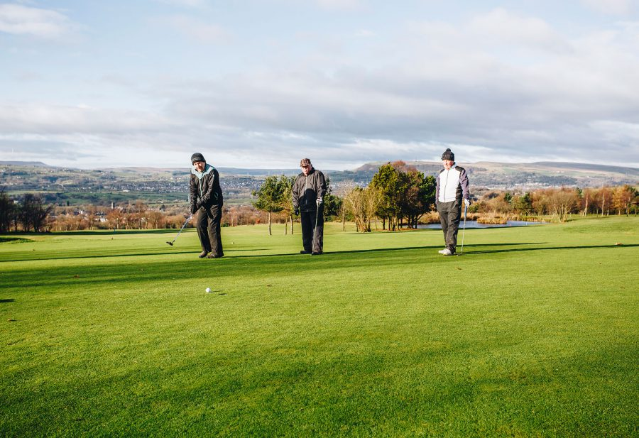 A group of golfers at Walmersley Golf CLub