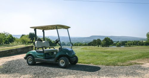 Golf buggy for hire to use at Walmersley Golf Course