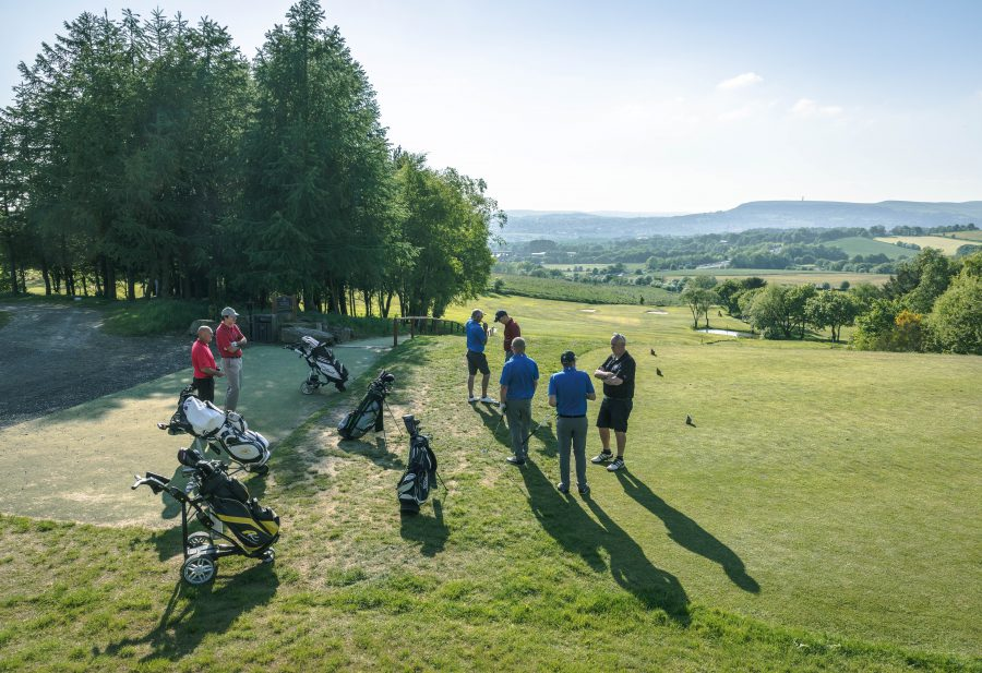 Group of golfers at Walmersley Golf Club