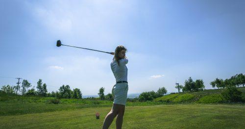 Junior golfer about to swing at Walmersley Golf Club