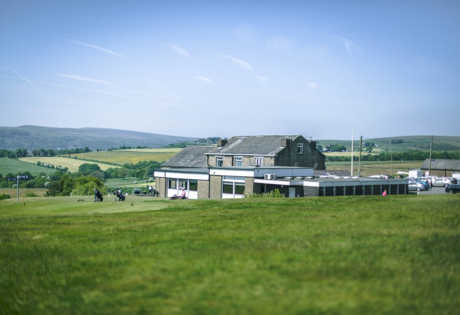 A view of the clubhouse at Walmersley Golf Club